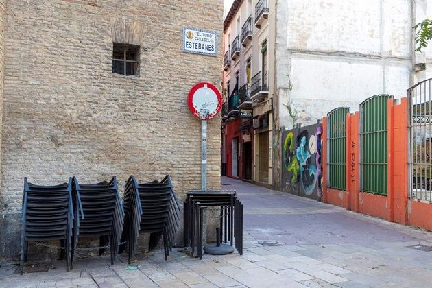 Un bar de la popular zona de 'El Tubo', de