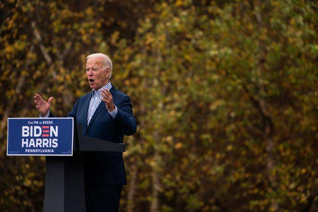 Biden, durante un acto de campaña el 24 de octubre de