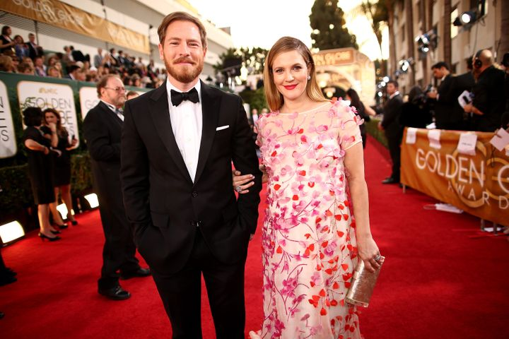 Kopelman and Barrymore arrive to the 71st Annual Golden Globe Awards on Jan. 12, 2014.