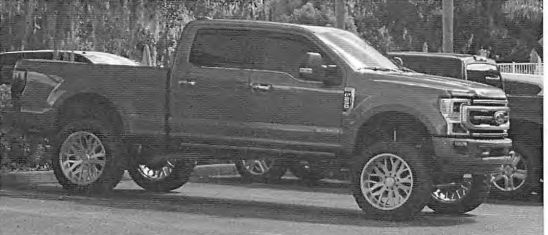 Federal authorities said they photographed Keith William Nicoletta driving this 2020 special-edition Ford F-250 pickup truck