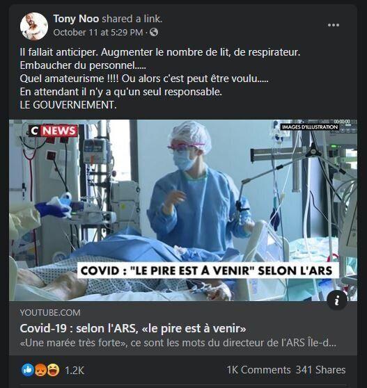Facebook admet qu'un groupe pro-Raoult a été désactivé