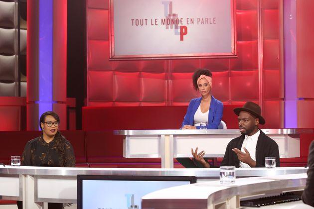 La journaliste et chroniqueuse Vanessa Destiné, l'artiste hip-hop et conférencier Webster, la chroniqueuse...