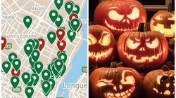 Halloween : une carte pour cibler les maisons qui donnent des