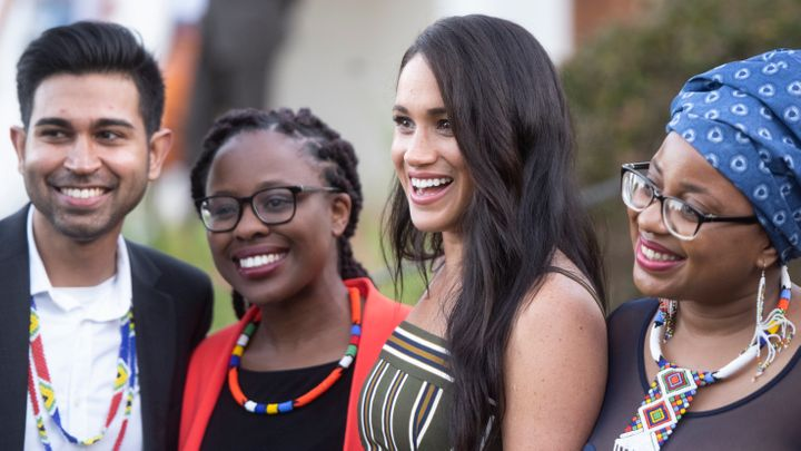 Meghan Markle meeting with South Africans youth during their Sept. 2019 visit to Cape Town, South Africa.
