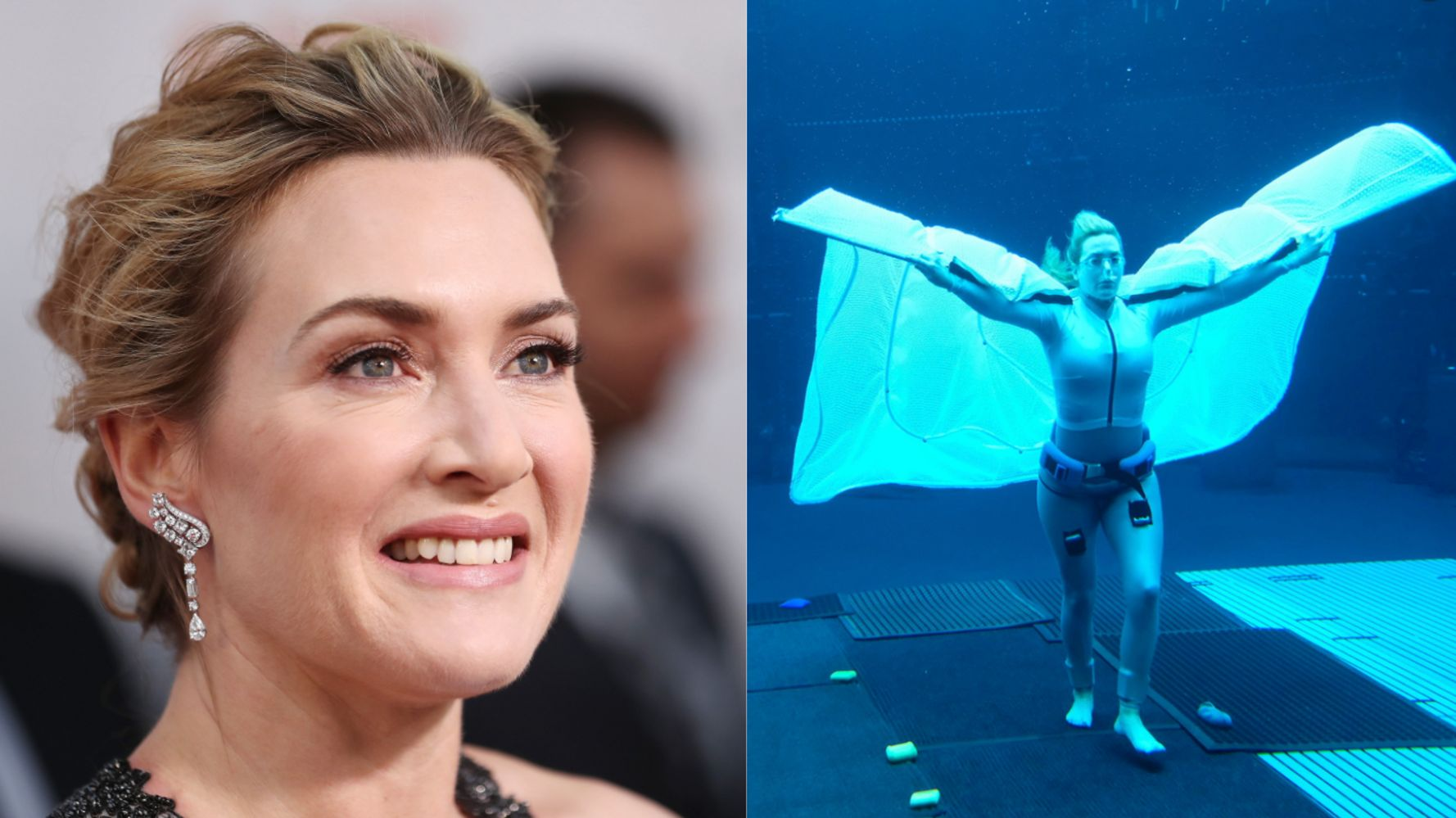 This Photo Of Kate Winslet Filming 'Avatar 2' Underwater Will Make You Take A Deep Breath