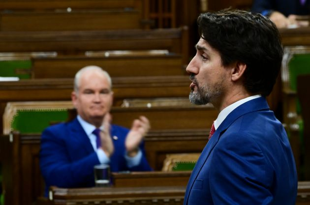 Prime Minister Justin Trudeau answers a question during question period in the House of Commons on Oct....