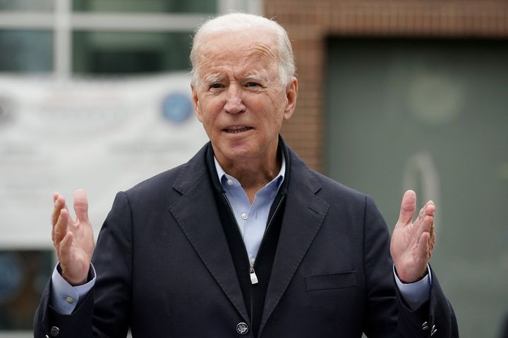 Democratic presidential nominee Joe Biden speaks at a voter activation center in Chester, Pennsylvania, on Monday. Pennsylvan