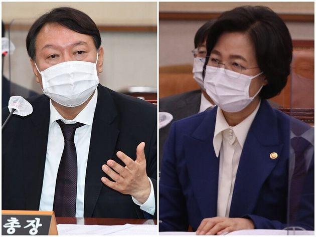 윤석열 검찰총장, 추미애 법무부