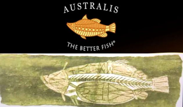 Top: The logo for US-owned company Australis, which admits its logo could be seen