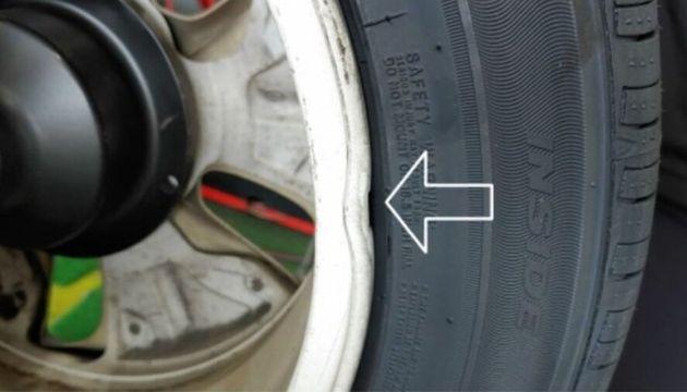 타이어뱅크에서 고의로 훼손한 타이어