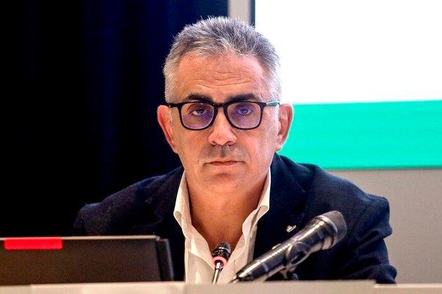 Il virologo Fabrizio Pregliasco alla conferenza stampa per la vaccinazione antinfluenzale in Regione...