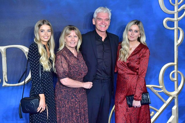 The couple with their daughters, Molly and Ruby, in 2018