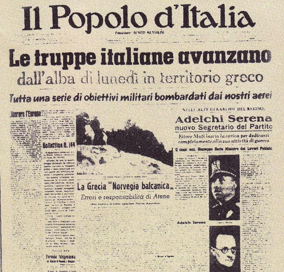 Η εφημερίδα POPOLO D' ITALIA του...