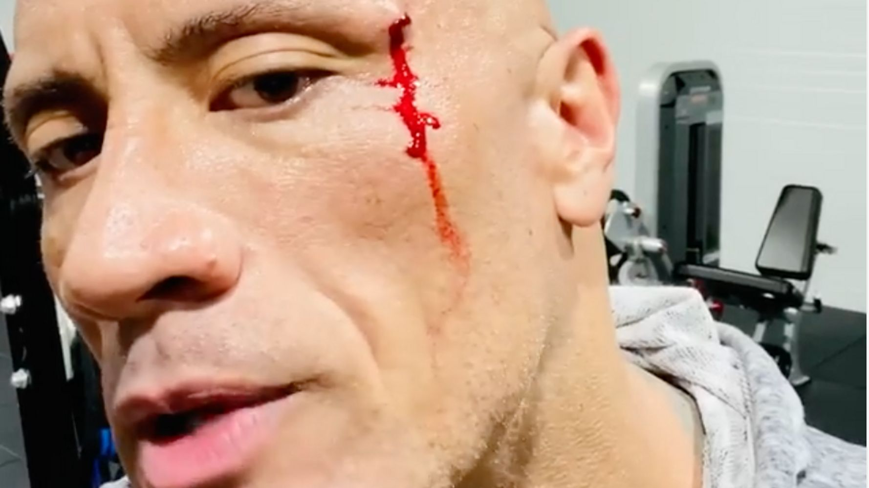 Dwayne 'The Rock' Johnson Tastes His Own Blood After Gym Accident In Intense Video