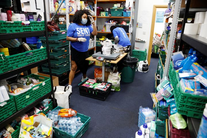 Volunteers at the North Enfield Foodbank Charity.