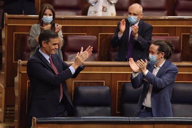 El presidente del Gobierno, Pedro Sánchez y el vicepresidente segundo, Pablo