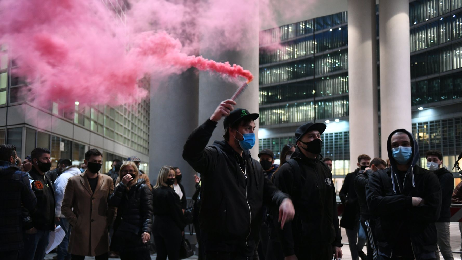 Violent Protests Flare In Italian Cities Against New COVID-19 Restrictions