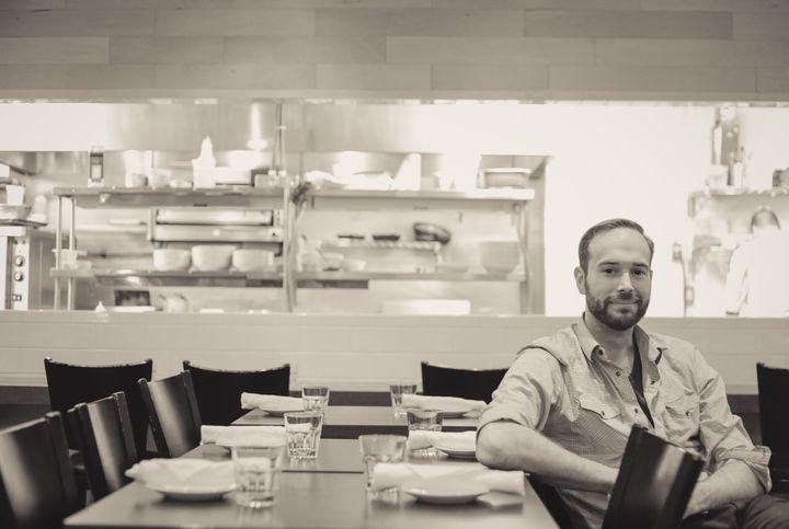 The writer, Richmond Station co-owner Chef Ryan Donovan.