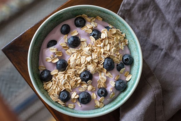 Yogurt contains probiotics that may improve gut health and, in turn, reduce anxiety.