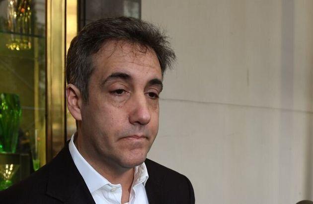 Michael Cohen, el exabogado personal de Donald Trump, en mayo e 2019, momentos antes de ingresar en prisión...