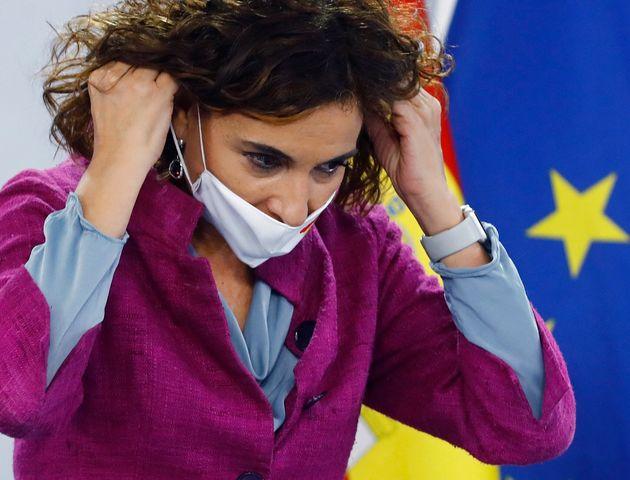 María Jesús Montero, en la rueda de prensa del Consejo de