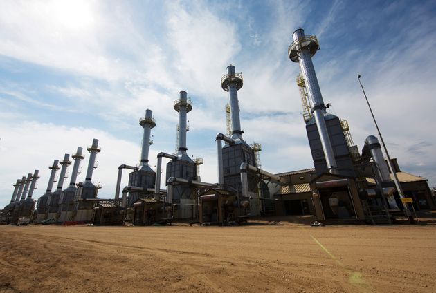 Steam generators at the Christina Lake Cenovus Energy project, 120 km south of Fort McMurray, Alta.,...