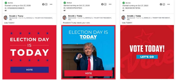 Facebook approved hundreds of ads from the Trump campaign that violate the platform's own policies.
