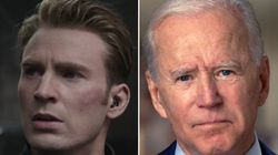 Footage Of Joe Biden Set To Captain America Speech Goes