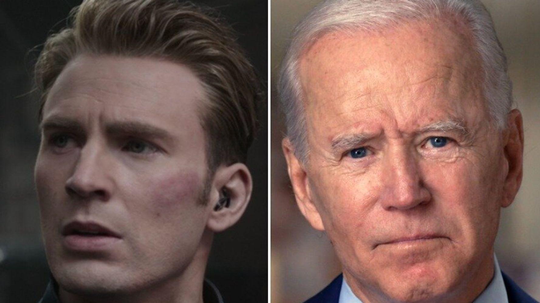 Footage Of Joe Biden Set To Captain America Speech Goes Viral