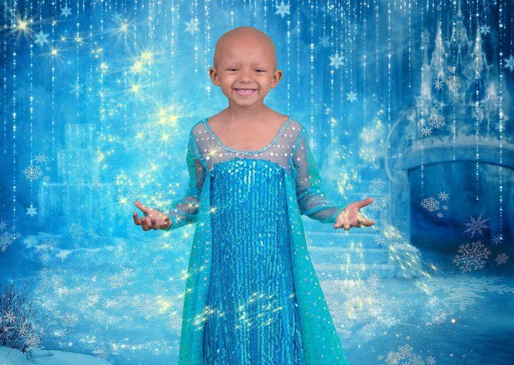 """Arianna as Elsa from """"Frozen."""""""