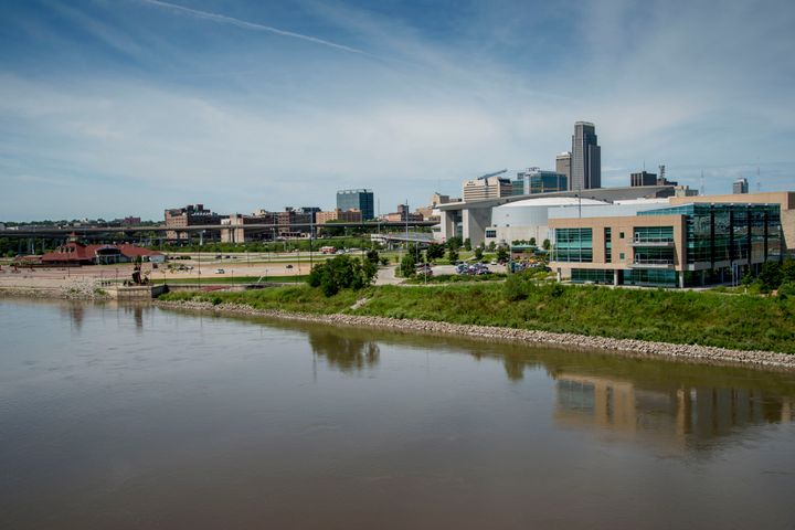 The Omaha skyline seen over the Missouri River. The 2nd Congressional District that includes the city is the site of one of t