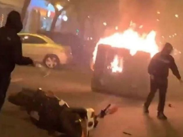 Captura de uno de los vídeos de la manifestación de Pino