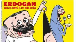 'Charlie Hebdo' caricaturiza a Erdogan en calzoncillos mientras levanta la túnica a una mujer