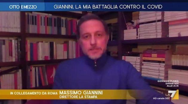 Massimo Giannini in collegamento a Otto e