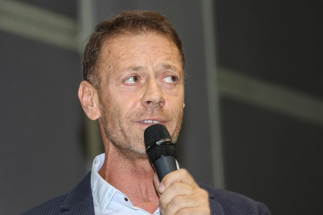 Rocco Siffredi, Italian pornographic actor, director and producer of pornographic movies, guest during...