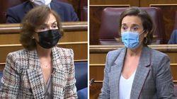 Carmen Calvo recuerda el pasado del PP para responder tajantemente a la pregunta de Cuca