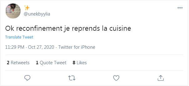 Les Français envisagent de se mettre à la cuisine ou au sport.