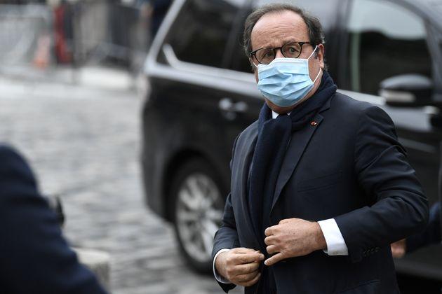 Francois Hollande lors des funérailles de Juliette Greco, le 5 octobre 2020 à Paris