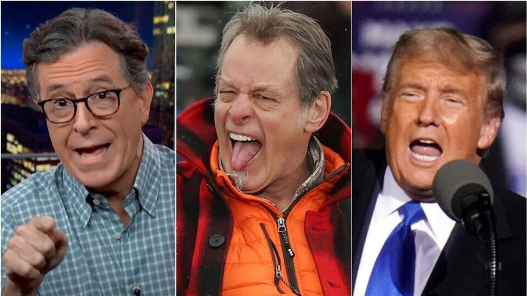 Stephen Colbert: This Trump-Ted Nugent Moment Is 'Perfect' Summary Of Where We're At