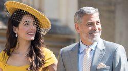 Amal y George Clooney asistieron a la boda de Meghan Markle y Harry sin