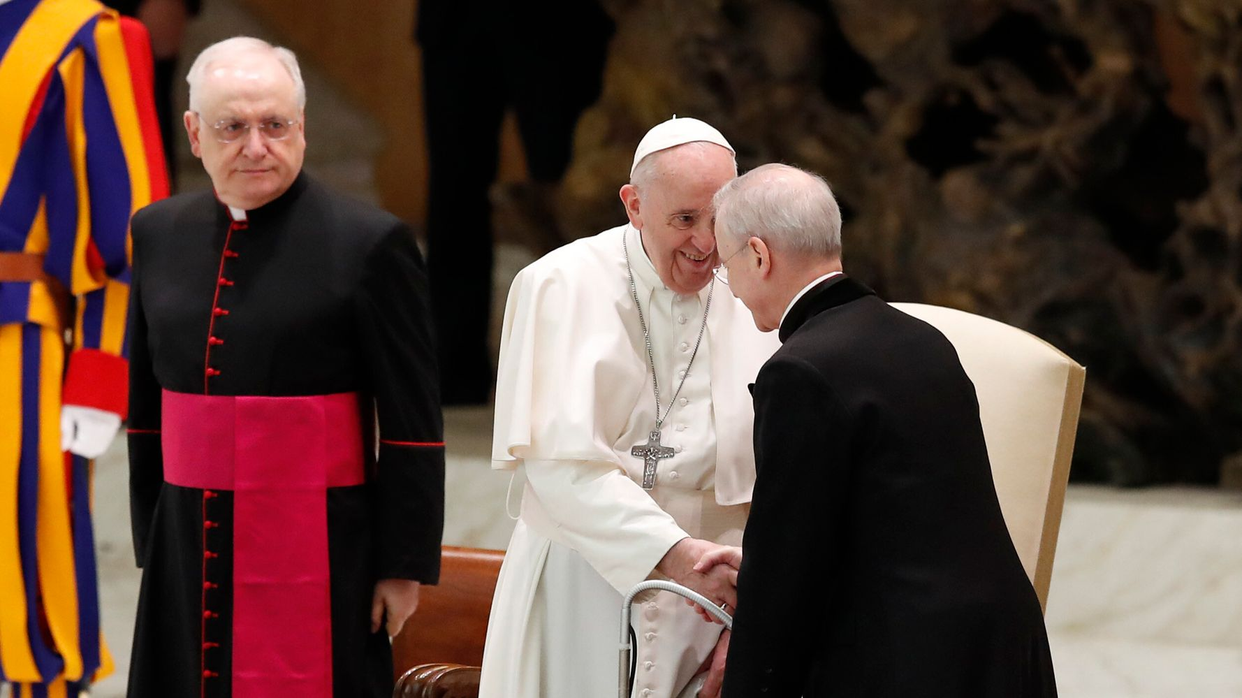 Pope Foregoes Mask, Blames 'Lady Called COVID' For Social Distancing At Audience