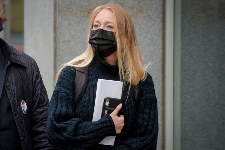 India Oxenberg arriving for Keith Raniere's sentencing hearing in Brooklyn on Tuesday.