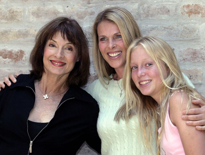 Catherine Oxenberg, centre, with her mother Elizabeth, left, and daughter India in 2004.