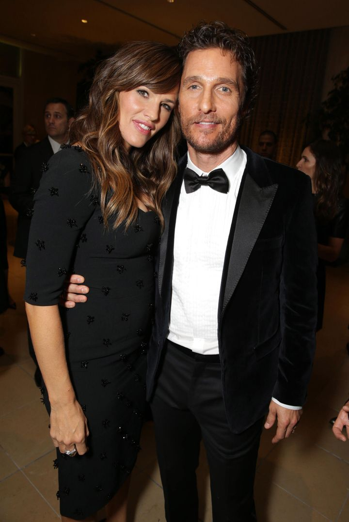 Jennifer Garner and Matthew McConaughey seen at the 28th Annual American Cinematheque Awards honoring the actor in 2014.