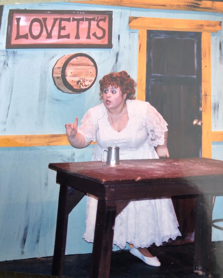 "The author starring in the Great Neck South High School performance of ""Sweeney Todd"" in 2005."