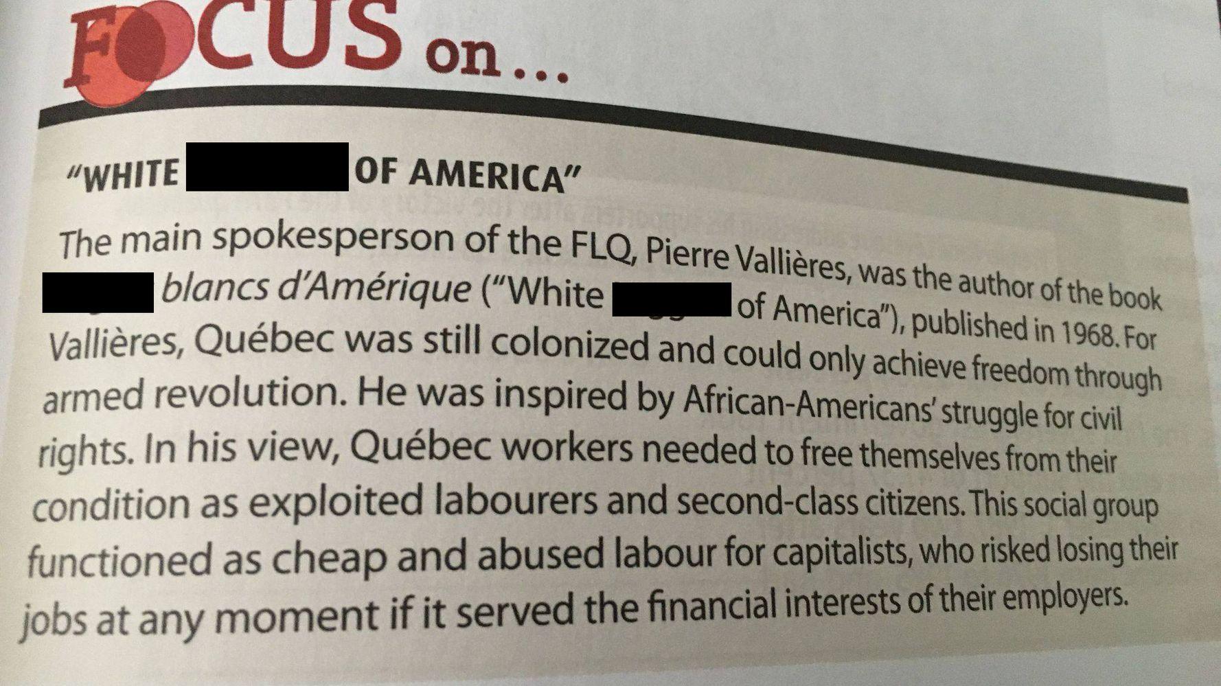 Montreal Teacher Shocked To Find N-Word In High School Textbook