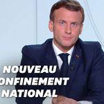 Macron annonce un reconfinement de toute la France dès