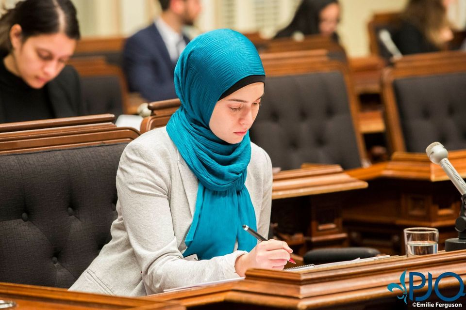 Marwa Khanafer participates in the Quebec Youth