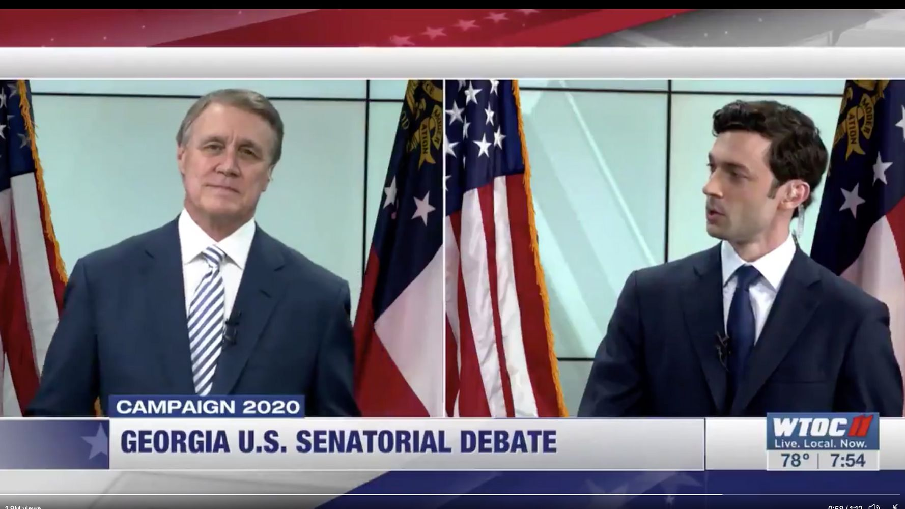 Jon Ossoff Calls Sen. David Perdue A 'Crook' To His Face In Heated Debate