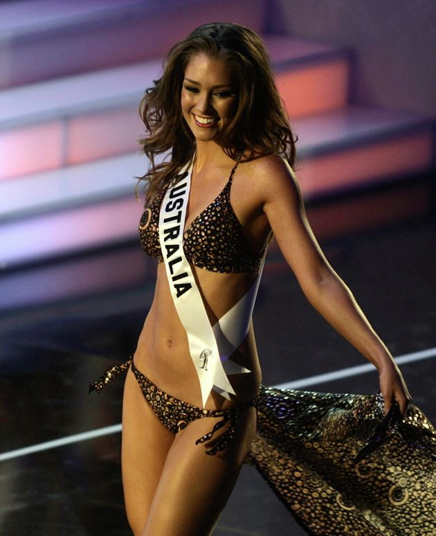 Erin McNaught from Australia takes the catwalk during the Miss Universe 2006 Preliminary Competition...